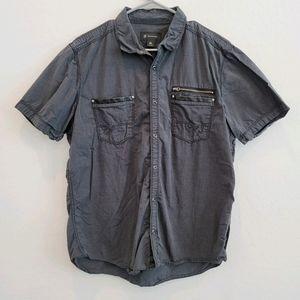 INC Casual Button Down Short Sleeve Shirt XL